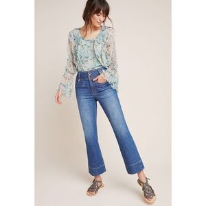 Anthropologie Pilcro High-Rise Crop Flare Jeans